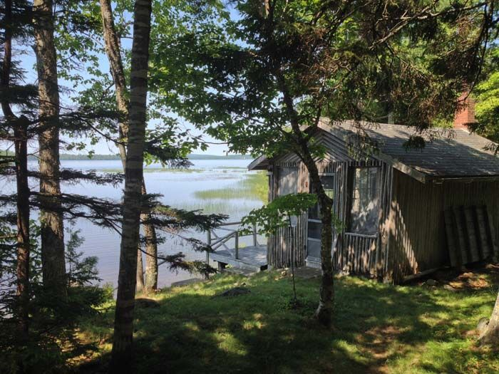 View of Boyden Lake from Kendall Farms Cottages, downeast Maine, the Bold Coast
